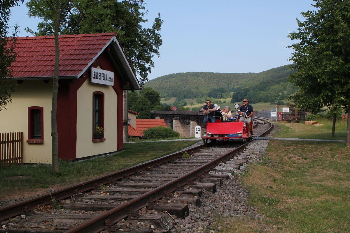 Draisine in Lengenfeld unterm Stein (1)