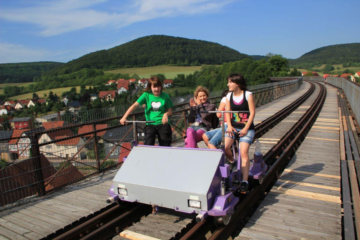 Draisine in Lengenfeld unterm Stein (4)